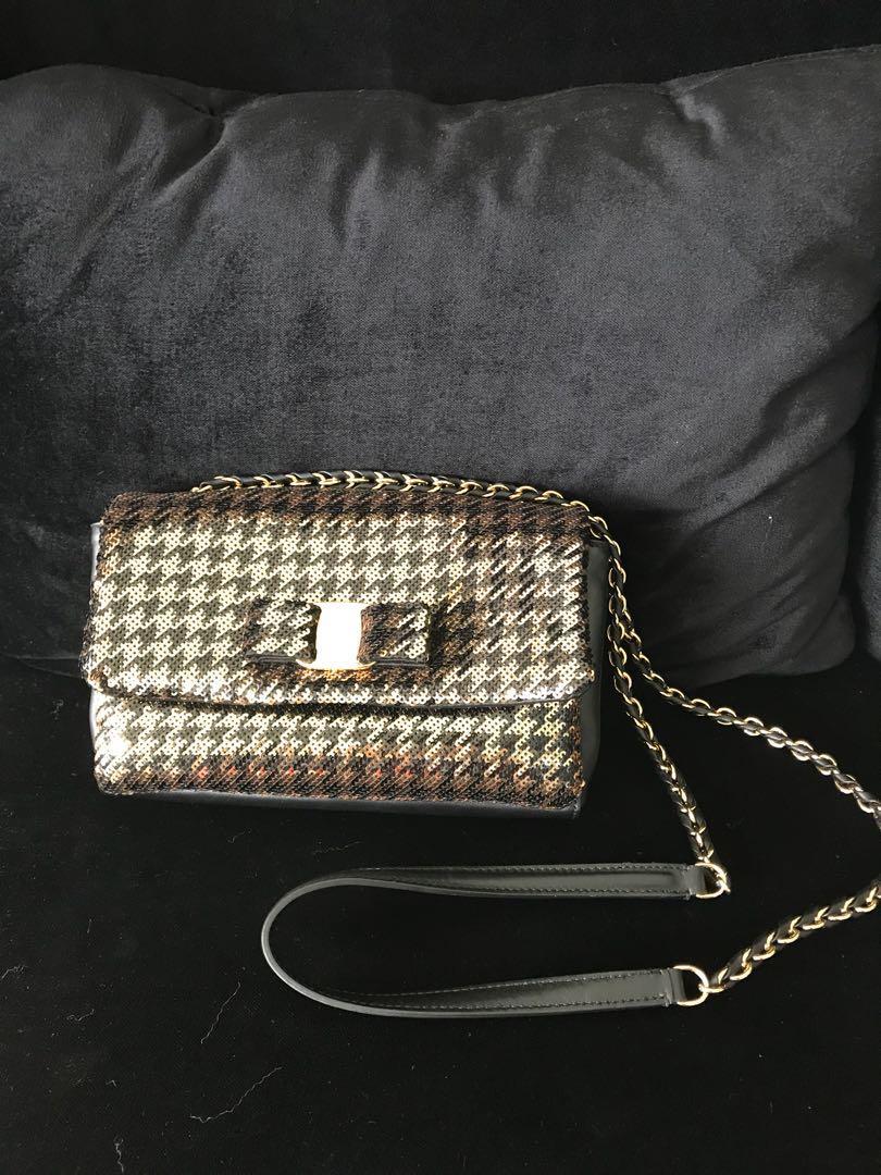 d415c707b1db Salvatore Ferragamo Sequin Mini Vara Flap bag