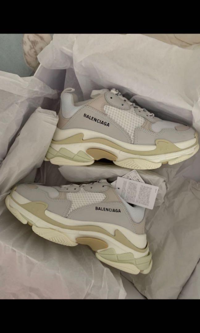0608c4ce5245 Size41 Balenciaga Triple S White