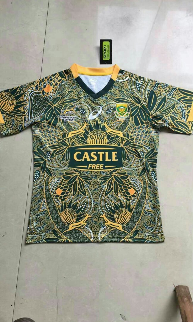 5bc71a64f95 South Africa Nelson Mandela Centenary Rugby Kit, Sports, Sports Apparel on  Carousell