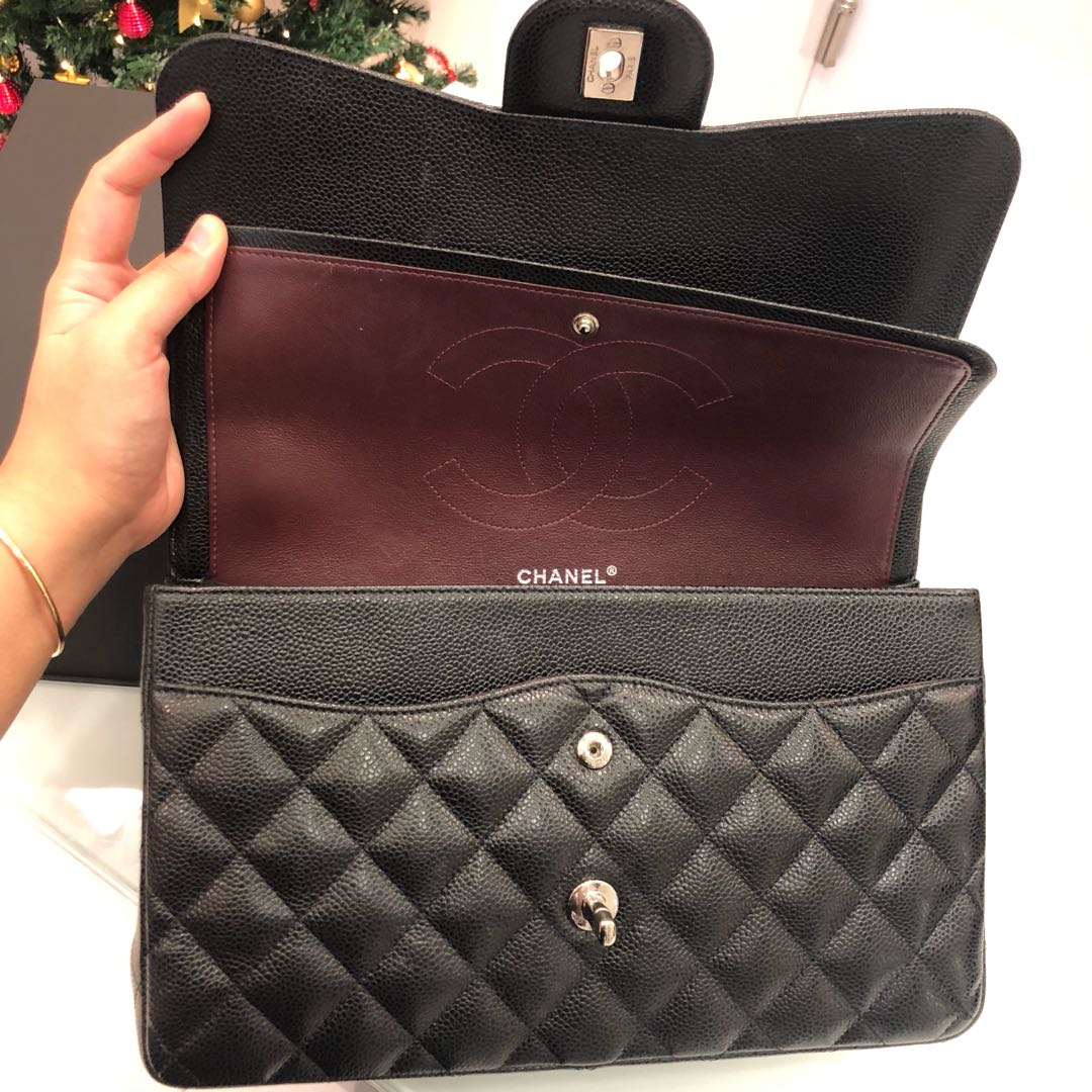 fa5eac584b94 Superb Deal! Save 3k!🖤 Chanel Jumbo Double Flap in Black Caviar SHW,  Luxury, Bags & Wallets, Handbags on Carousell