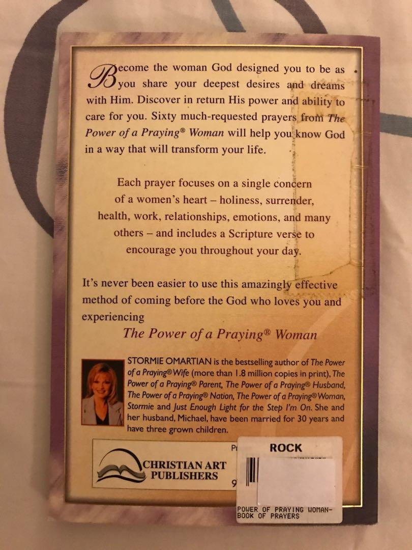 The Power of a Praying Woman by Stormie Omartian, Books