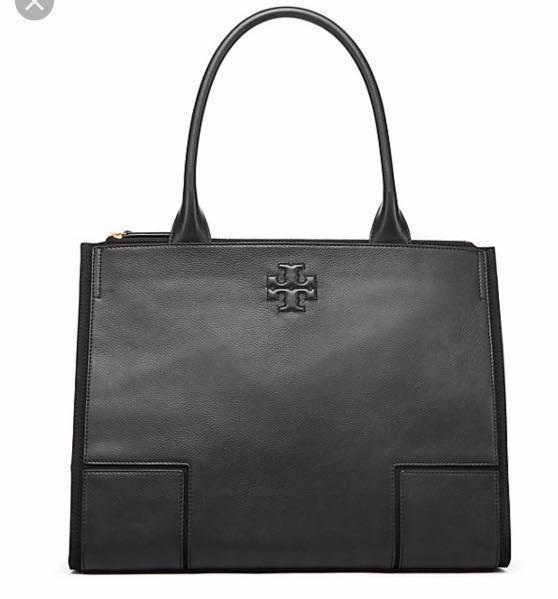 0118b752b2fe Tory Burch Ella Leather   Canvas Tote Bag