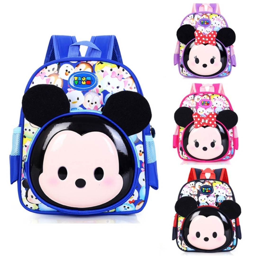 2e6cdf13ca25 Tsum Tsum Kids School Bag Backpack Mickey Mouse Minnie Mouse Back ...