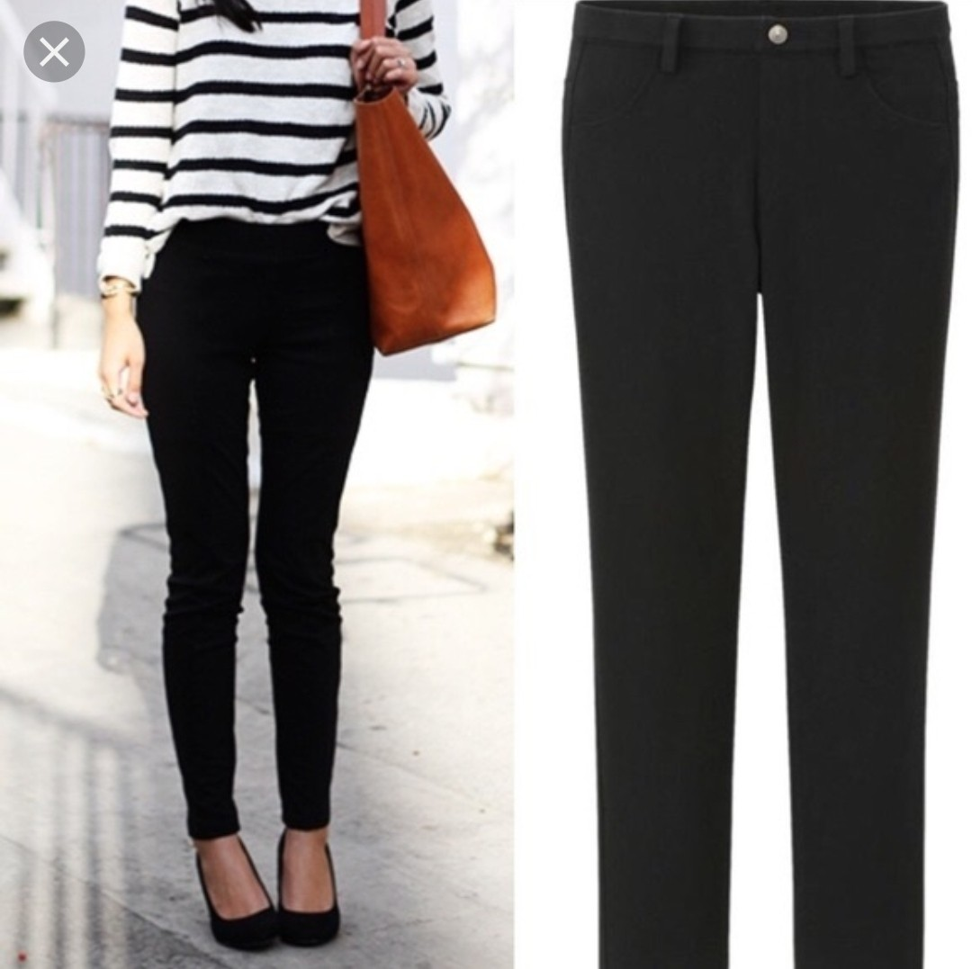 2aee13aacae6a2 Uniqlo legging pants black, Women's Fashion, Clothes, Pants, Jeans & Shorts  on Carousell