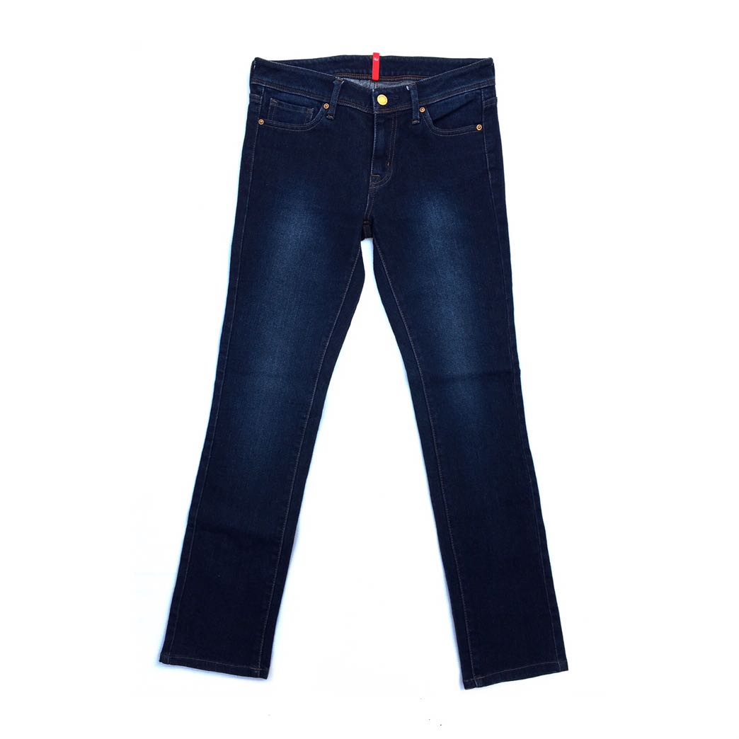 3a4c861d Uniqlo Skinny Fit Straight Middle Rise in Dark Blue Spray On, Men's ...