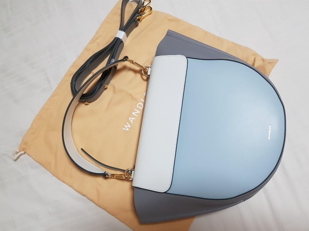 c0ec4ed7d7 WANDLER Hortensia Medium Colour Block Leather Shoulder Bag