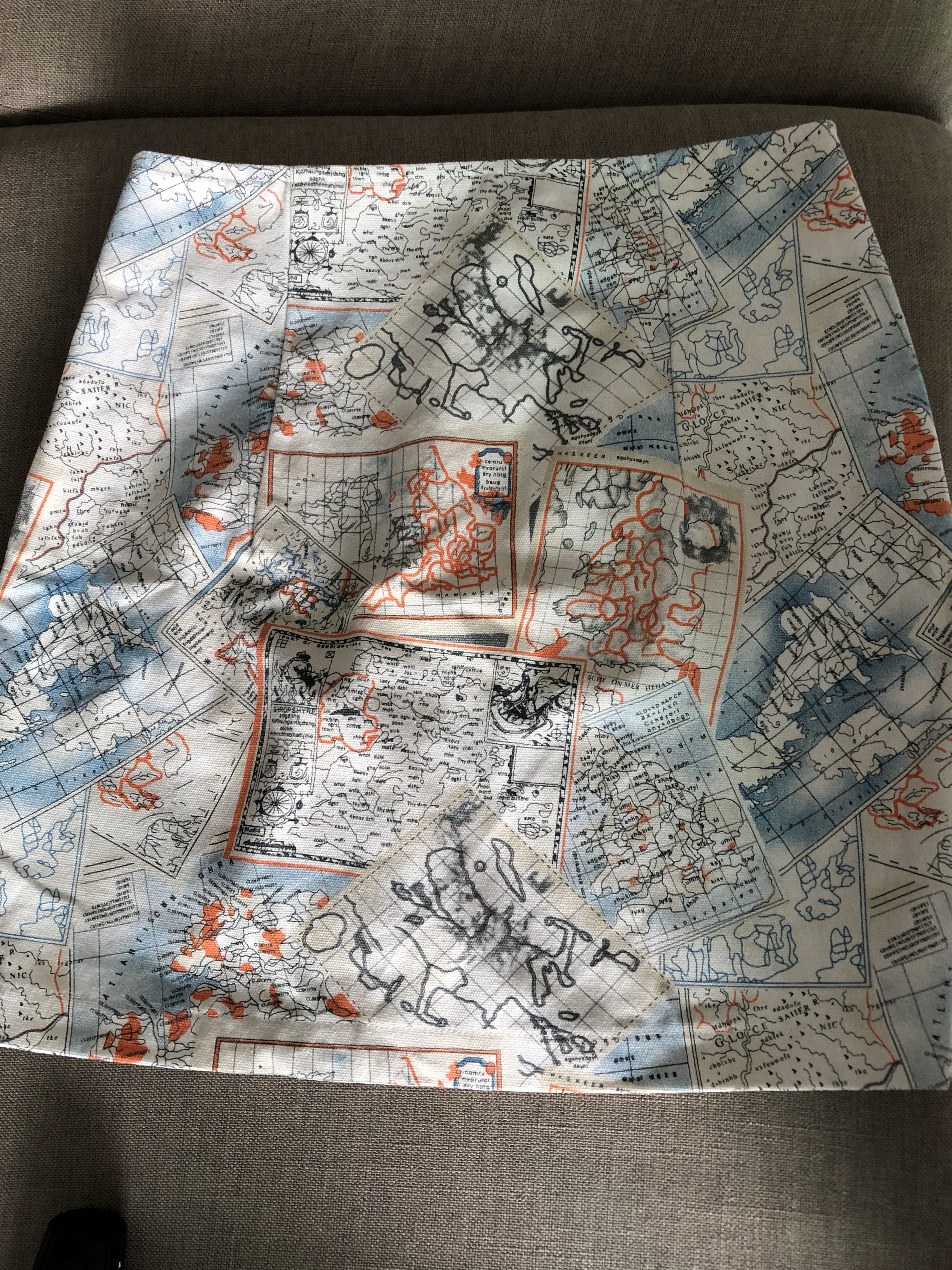 World Map Fitted Skirt Women S Fashion Clothes Dresses Skirts