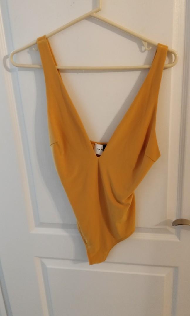 Yellow Plunge Bodysuit