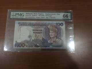 马币旧钞6代$100块