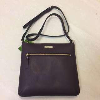 🚚 [全新] KATE SPADE深紫色斜肩背包Crossbody Bag WKRU4496