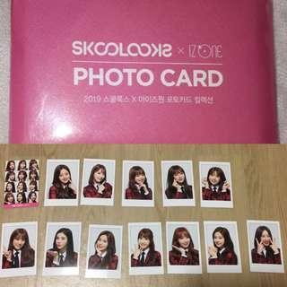 [PO] IZONE IZ*ONE Skoolooks 13pcs Photocard Set