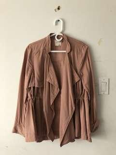 Urban outfitters dusty rose jacket/cardigan