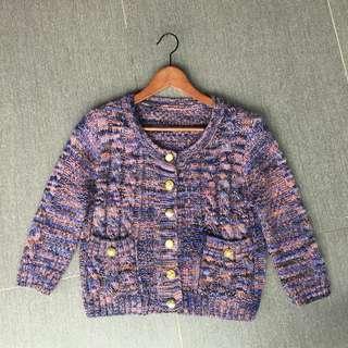 🚚 (全新) 短版針織毛衣外套