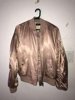TOPSHOP dusty rose bomber jacket