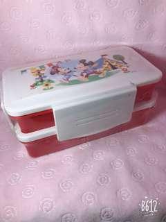 🚚 米奇米妮雙層保鮮盒