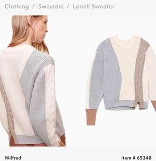 **PRICE DROP** ARITZIA - WILFRED LONELL SWEATER SIZE L