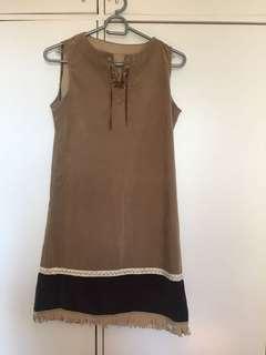 Brown fringe dress