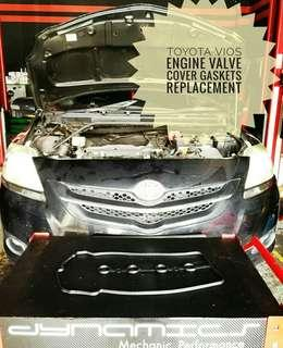 Toyota #Vios : Engine Valve Cover Gasket replacement