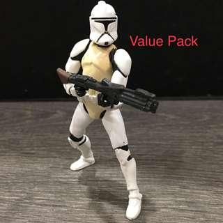 Star Wars Clone Wars Rare Value Pack Clone Trooper (12 Points Articulations)