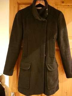 Zara 黑色大衣 含羊毛 NTD700含郵