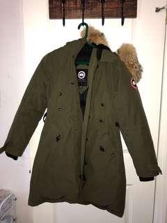 Canada Goose Kensington Parka Jacket olive green SIZE SMALL
