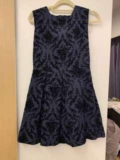 斯文裙 blue navy dress