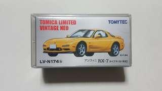 🚚 Tomica Limited Vintage Neo efini RX-7 Type R (Yellow)