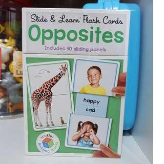 Slide and learn flash cards Opposites