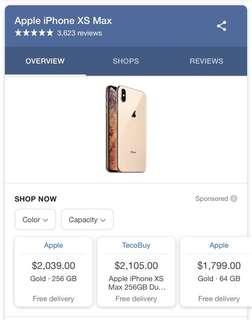 IPhone XS Max 256 ( Sliver ) For sale