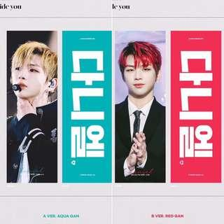 [Sharing] Wanna One Kang Daniel [SG GO] PRISM Winter Cheering Kit 'BESIDE YOU'🖤 by @prism_daniel