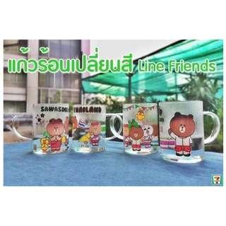 Ready Stock!!! Thailand 7-11 X LINE Friends Glass Mug Limited Edition