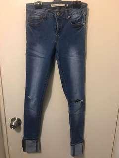 Brave soul ripped skinny jeans
