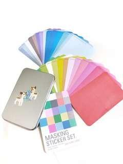 Solid Colour Masking Sticker Set