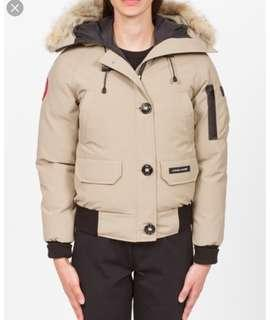 (RARE) out of stock Canada Goose chilliwack beige down jacket xs
