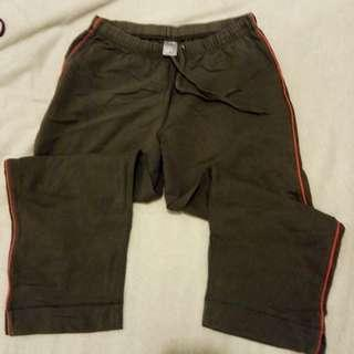Grey Active Wear 3/4 Pants