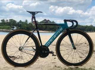 Track fixie carbon wheelset