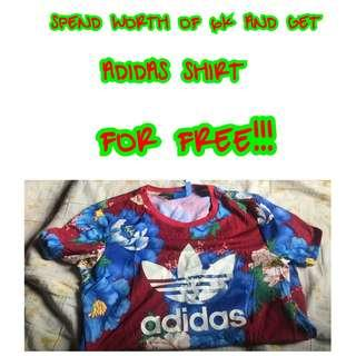 GET FREE ADIDAS SHIRT💯✔Authentic