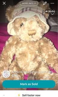 Authentic Burberry Bear