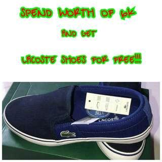 GET FREE LACOSTE SHOES 💯✔Authentic