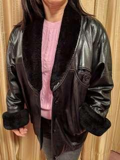 Pilot vintage look leather jacket