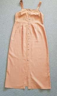 Topshop Linen Midi Dress