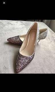 Glitter Wedding/Evening Heels (New)