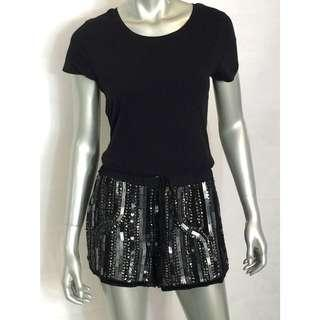 River Island Beaded Sequin Embellished Shorts NWT