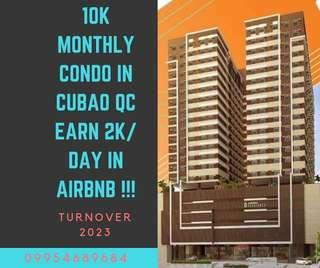 Earn 2k per day ! Condo in cubao quezon city preselling