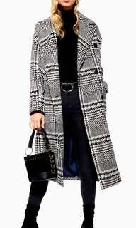 Topshop Checker Coat