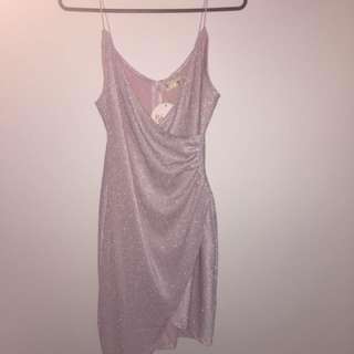 Shimmery pink formal dress size xs-s