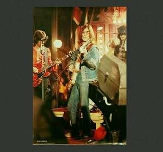 歲月收藏品:罕有John Lennon Poster 98X68cm (Printed in Italy )