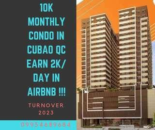RENT TO OWN CONDO IN CUBAO PRESELLING GOOD FOR AIRBNB BUSINESS