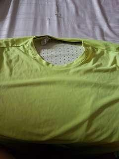 Adidas Climachill yellow shirt