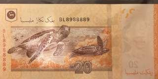 2012 Malaysia RM20 BL8988889